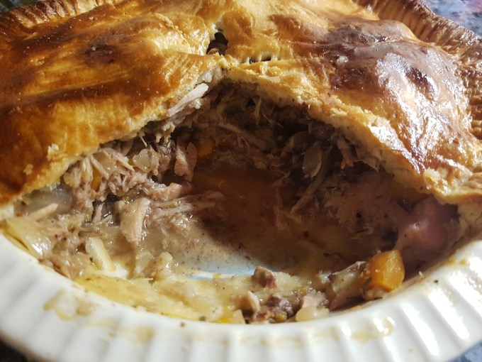 Rabbit and black pudding pie / SHE-EATS