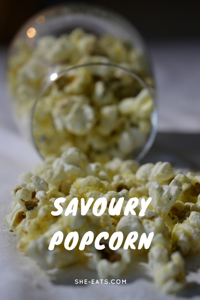 Savoury popcorn recipe / SHE-EATS