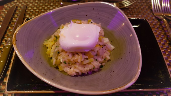 risotto with poached egg on top at The Grill in the Park, Worsley / SHE-EATS