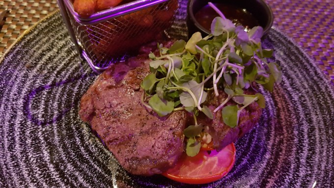 Ribeye steak with watercress at The Grill in the Park, Worsley / SHE-EATS