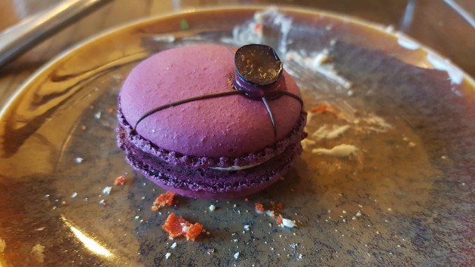 A purple vimto macaron / Afternoon tea Mamucium Manchester / She-Eats.com