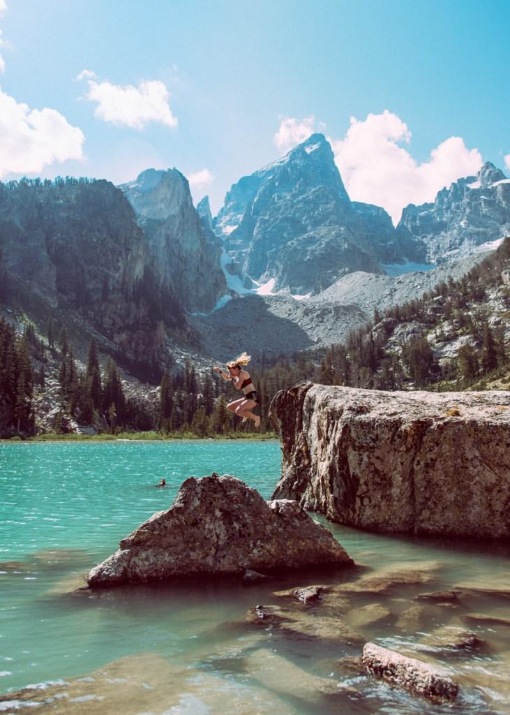 Teton Cliff Jump