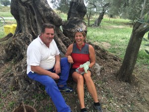 Mimmo invited us to join the olive harvest and gives me the best black olives including recipe of how to prepare