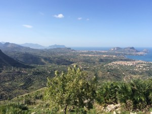 from the national park we have the view all along the coast from Palermo (left) to Porticello and the villages nearby
