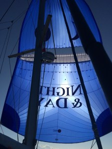 the Parasailor sometimes keeps us busy, we still are learning a lot, but when conditions are right, it's a great sail ;-)