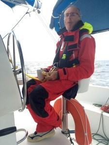 the skipper enjoys the breakfast