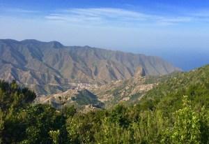 Blick hinuter auf Vallehermoso