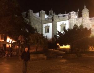 Die Rückseite der Kathedrale von Santa Ana in der Altstadt La Vegueta von Las Palmas