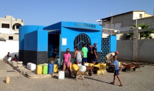 "the ""Fontaneiro"" - the water house in Palmeira, since more than 10 years the desalinations plant delivers water to everyone"