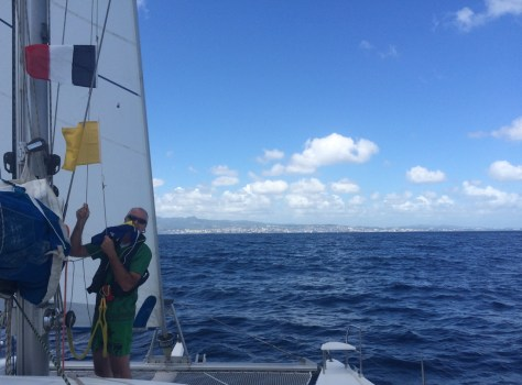 Approaching Martinique - for the first time we hiss the drapeau tricolore