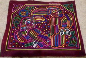 the molas are real pieces of art, here a nice one of our favorites from Venancio