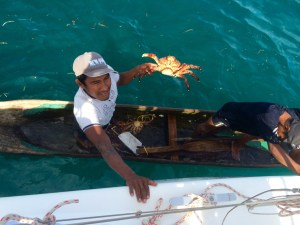 You want any lobster or crab? sometimes the local fisher men come and sell their catch of the day