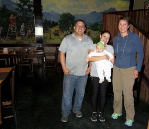 our friends Belisario and Jaira with Keilar in their restaurant Fusion J&B