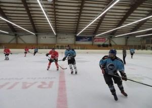 Hockey match Grüsch Switzerland