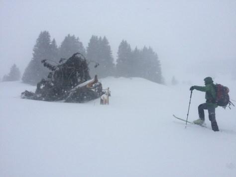 Snow storm Pany Switzerland