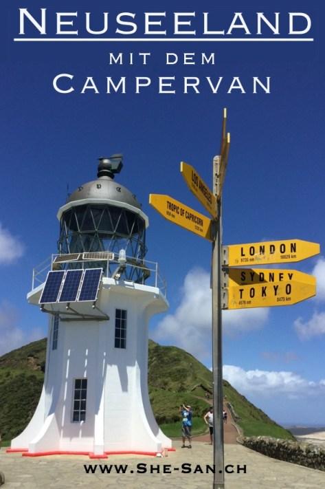 Traumhafte gratis Campingplätze für den Campervan, gratis Sehenswürdigkeiten und Wanderungen auf dem Weg von Cape Reinga bis zum Milford Sound in Neuseeland