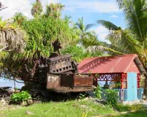 WW2 tank Funafuti