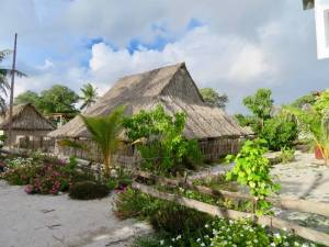 Thatched houses Abaiang