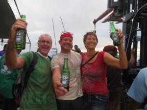 enjoying Heineken