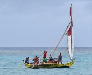 Sailing canoe lamotrek