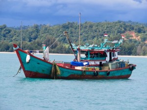 Fishing boat in Calang, Aceh