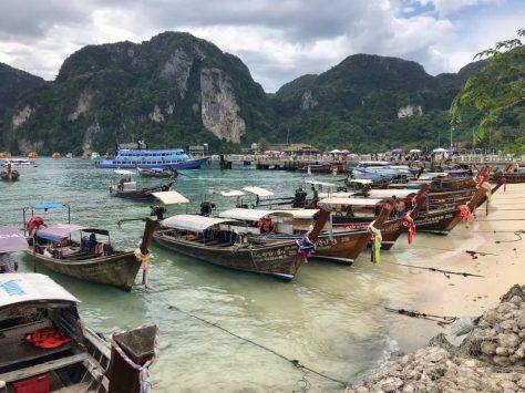 Longtail boats in Ko Phi Phi