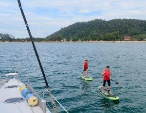 Paddleboarding in Klong Dao Ko Lanta