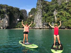 Paddle boarding in Ko Roi