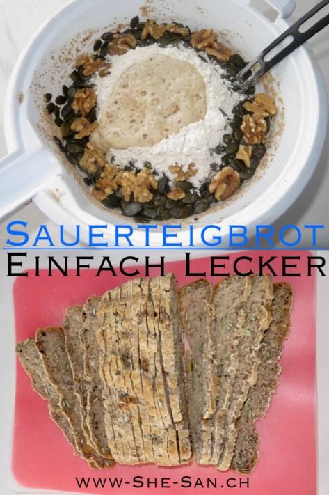 Rezept für Sauerteigbrot mit einfachen Sauerteigansatz