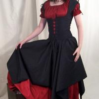 Gothic Wedding Dress For British Girl