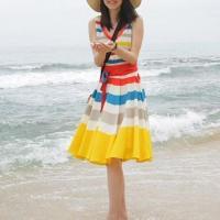 Colorful Beach Wear Lady Dress