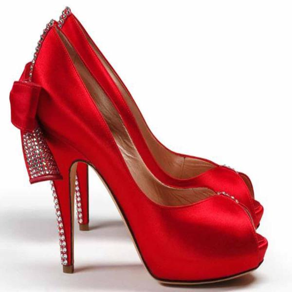 Girls Red High Heel Shoes