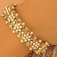 Fashion 22 Carat Ruby Gold Bangles