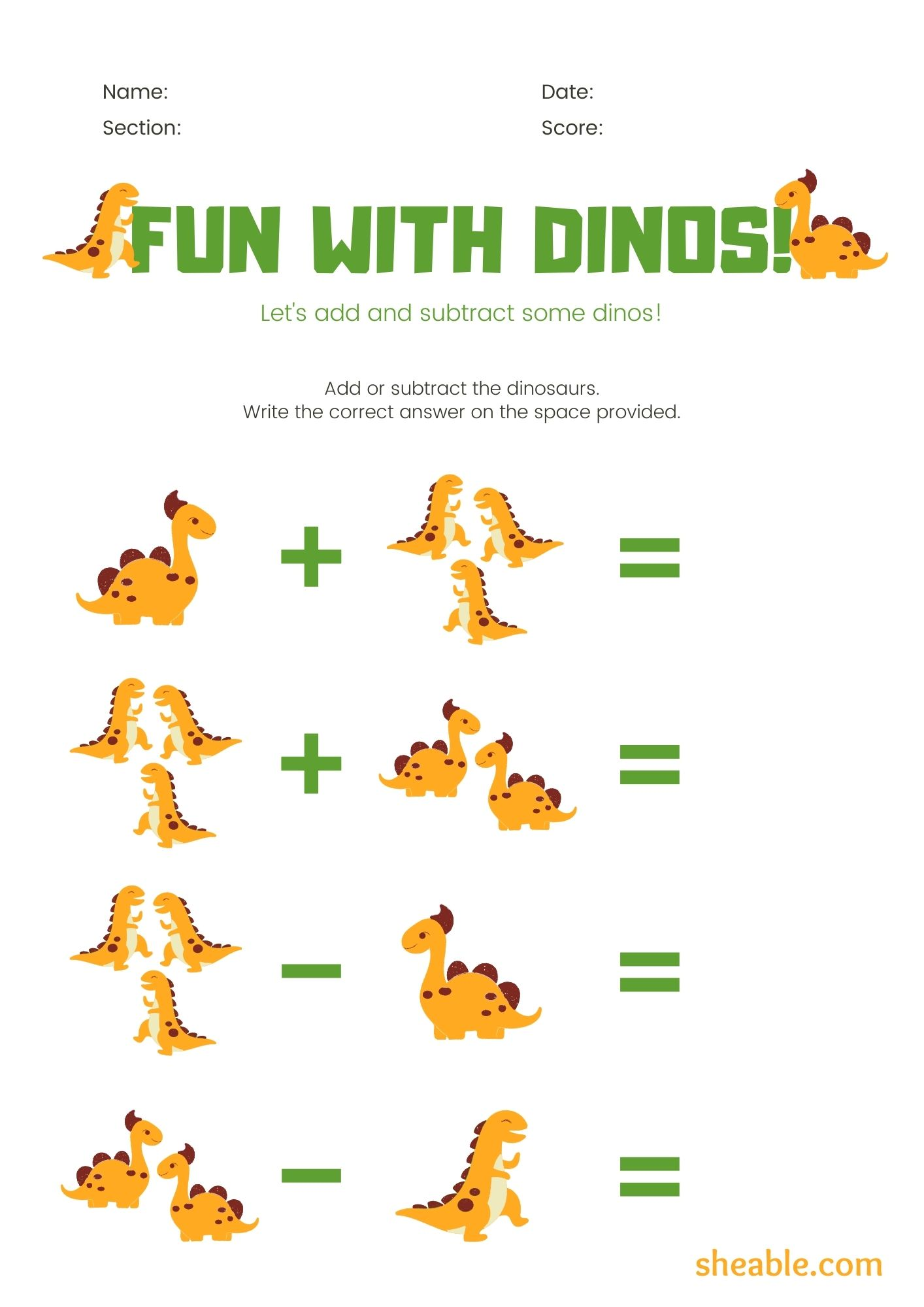 hight resolution of 1st Grade Math Worksheets (Addition + Subtraction)   Free Printable PDF