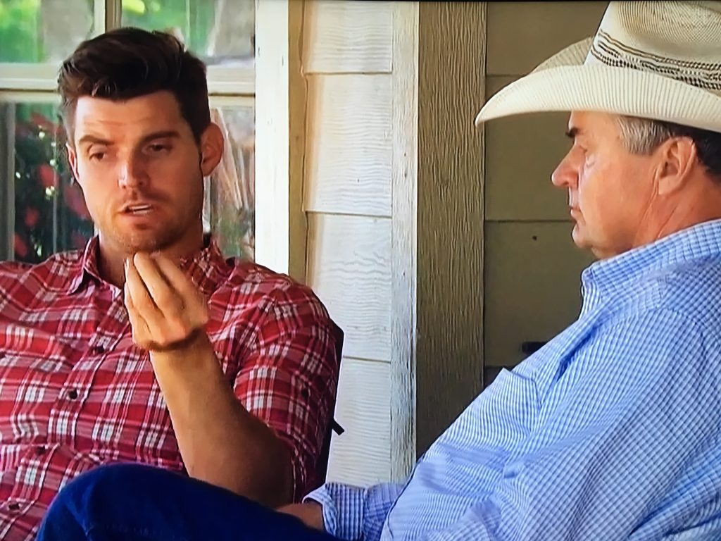 luke with his dad on bachelorette