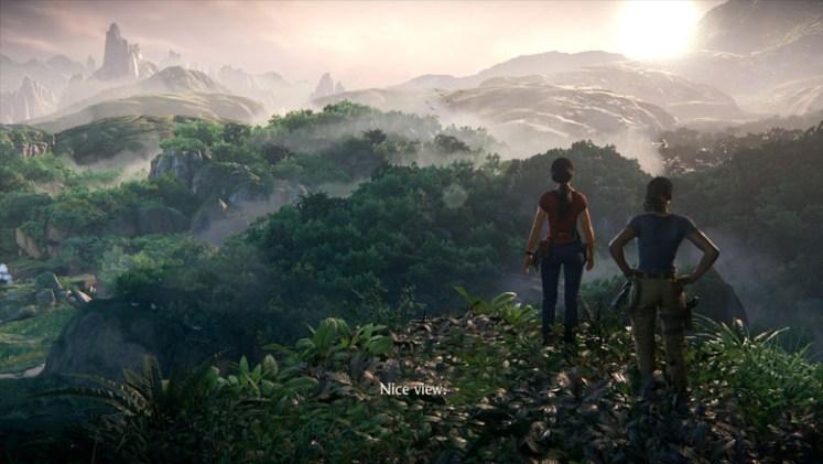 Chloe and Nadine enjoying the jungle view.