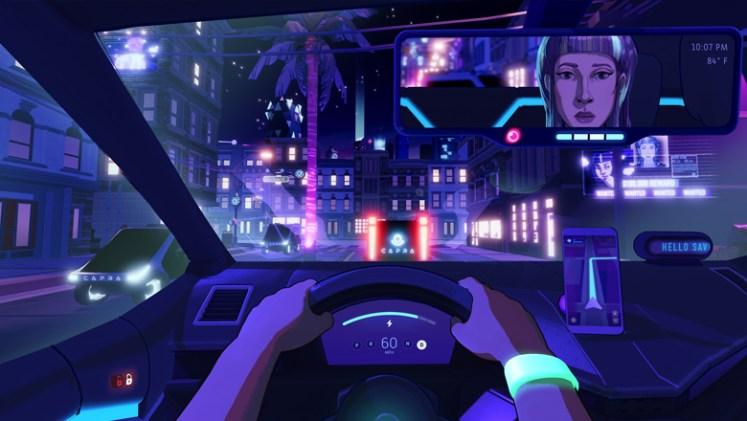 Neo Cab futuristic Uber simulator