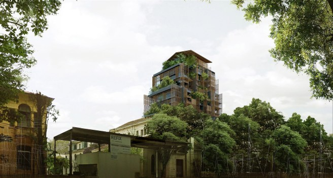 Ateliers Jean Nouvel sao paulo architecture plant covered luxury hotel building