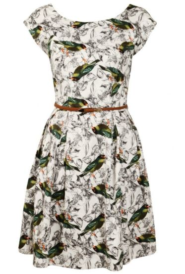 Julita-Bird Print Dress £59 by Louche from Joy
