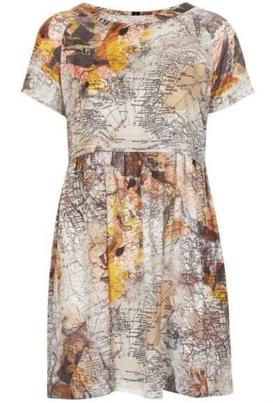 Map Print Tunic Dress £50 from Topshop