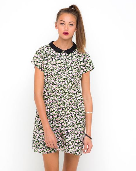 Betty Collared Dress in Floral Love £40 from Motel