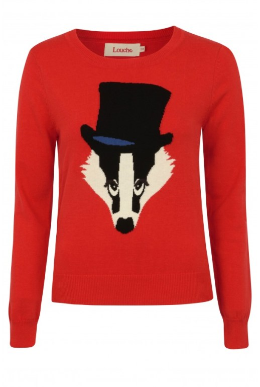 Top Hat Badger Jumper £45 by Louche from Joy