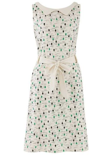 Evette Dress in Green Balloon Print £65 from People Tree