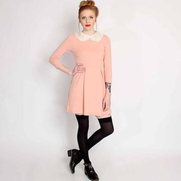 Pink Lillian Peter Pan Collar Dress £29.99 by Hearts & Bows from Ark