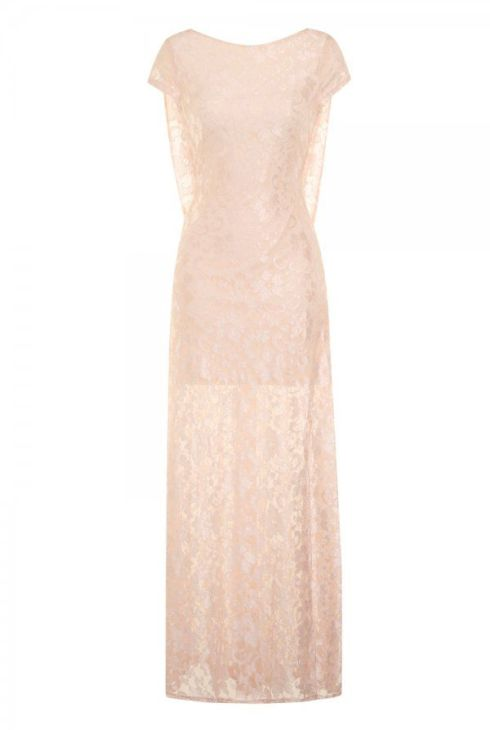 Girls on Film Nude Low Back Lace Overlay Maxi Dress £45 from Little Mistress