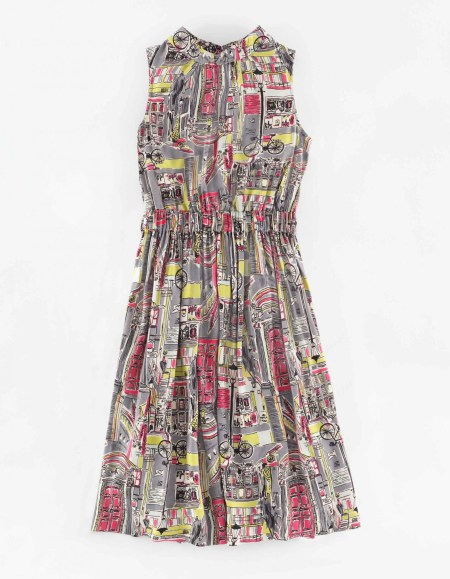 Chic Full Skirted Dress in Multi London Town £129 from Boden