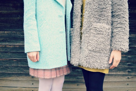 Mint Textured Coat | Teddy Bear Coat | Oliver Bonas | She and Hem