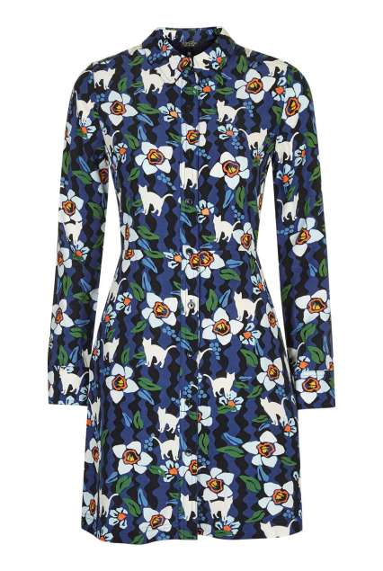 She and Hem | Double Thumbs Dresses #63 | Kitten Floral Shirtdress £48 from Topshop