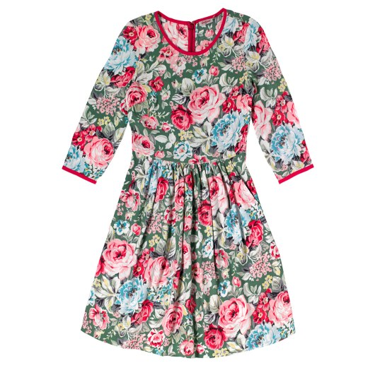 She and Hem | Double Thumbs Dresses #63 | Greenwich Rose Contrast Detail Crepe Dress £65 from Cath Kidston