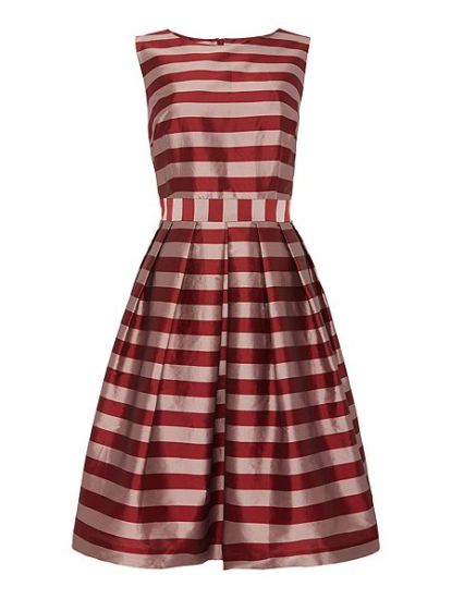She and Hem | Double Thumbs Dresses #63 | Striped Fit And Flare Dress £75 from Dickins and Jones at House of Fraser